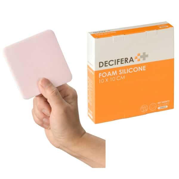 Decifera schuimverband in Silicone 10x10cm