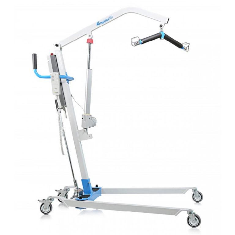 Patiëntenlift 150 kg tilkracht – elektrisch – oplaadbare batterij + standaard sling