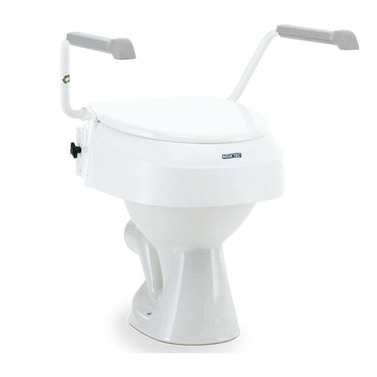 Toiletverhoger met armsteunen regelbaar in de hoogte