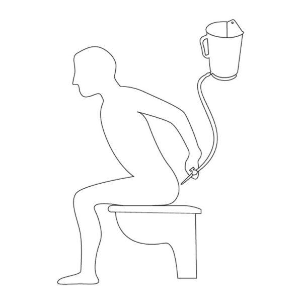 Klysmaset/Lavementset 2 liter (kan + darm + kraantje) – Voor darmspoeling/lavement