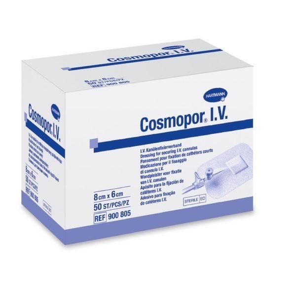 Cosmopor I.V. 6x8cm Cathederfixatiepleister Steriel