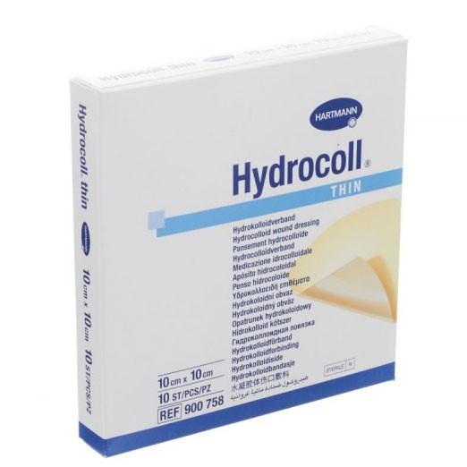 Hydrocoll THIN 10cm x 10 cm 10 stuks