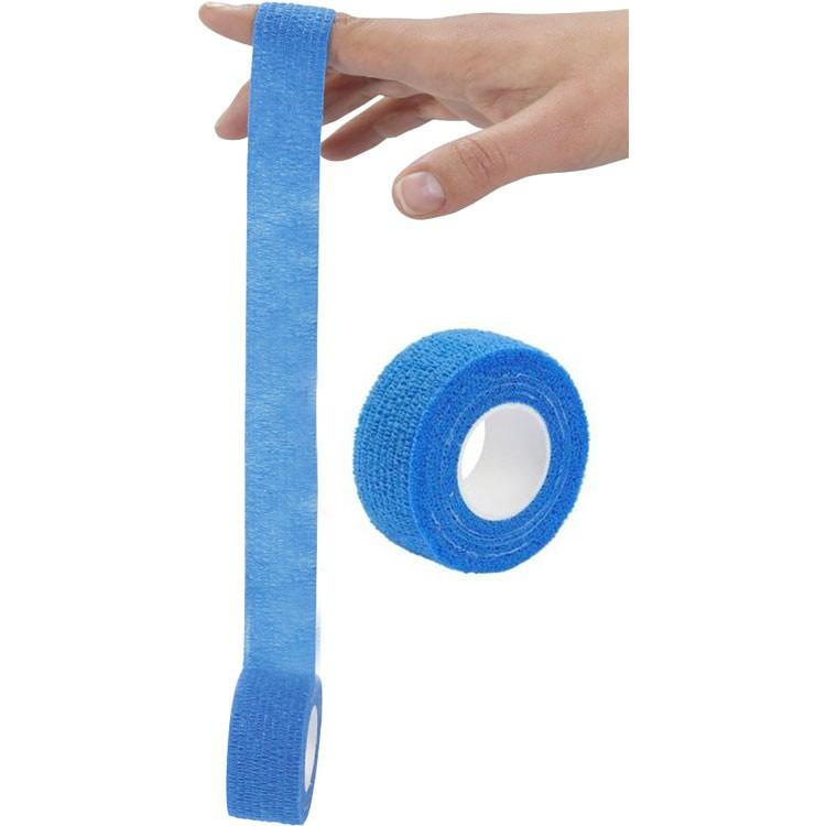 Snelpleister op rol voor vingers - blauw - 2,5cm x 4,5m - 2 rollen