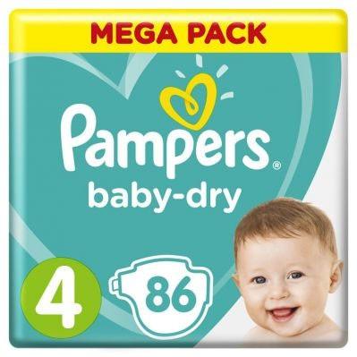 Pampers Baby-Dry Mega-Pack Nr 4 (9-14kg) - 86 stuks