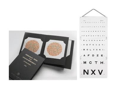 Echelle optometriques