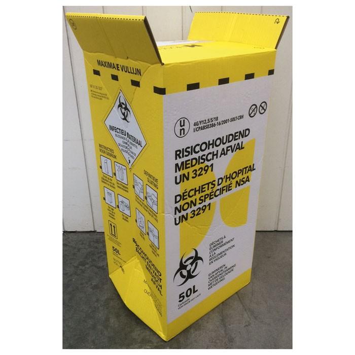 Kartonnen doos voor risicohoudend medisch afval