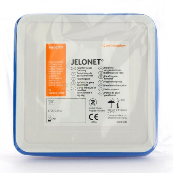 Jelonet ST metaal ds 10 x 10cm 10 st