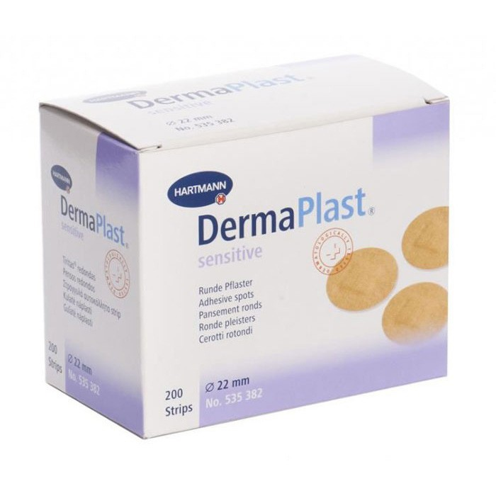 Dermaplast Sensitive 22mm spots latexvrij - 200 stuks
