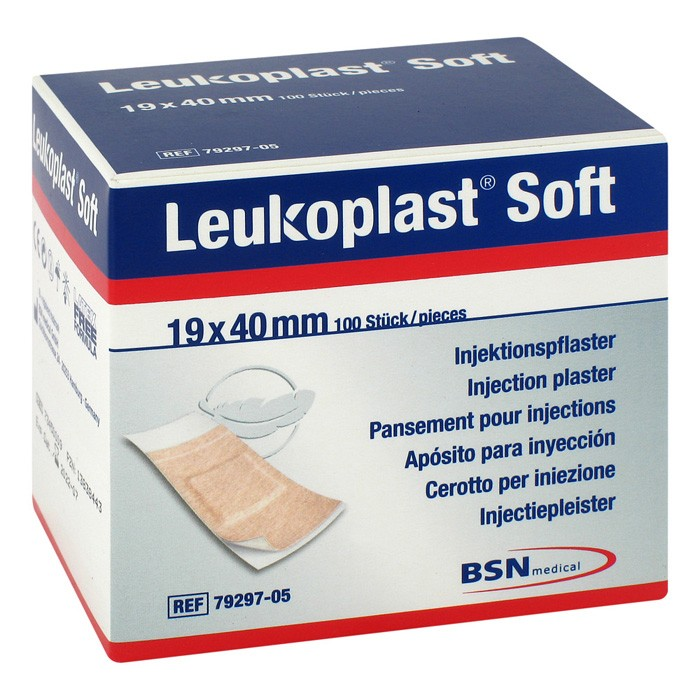 Leukoplast SOFT injectiepleister 19x40mm - 100 stuks