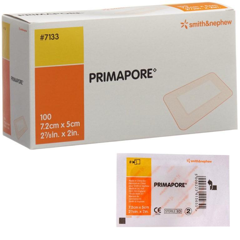 Primapore steriel - 7,2 cm x 5 cm -100 stuks
