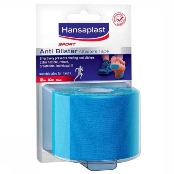 Hansaplast SPORT Anti-Blaar Sporttape - 2,5m x 5cm - Blauw - 1 stuk