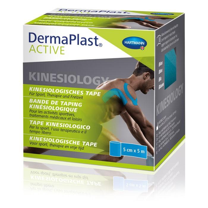 DermaPlast® ACTIVE Kinesiology Tape - Blauw - 5cm x 5m