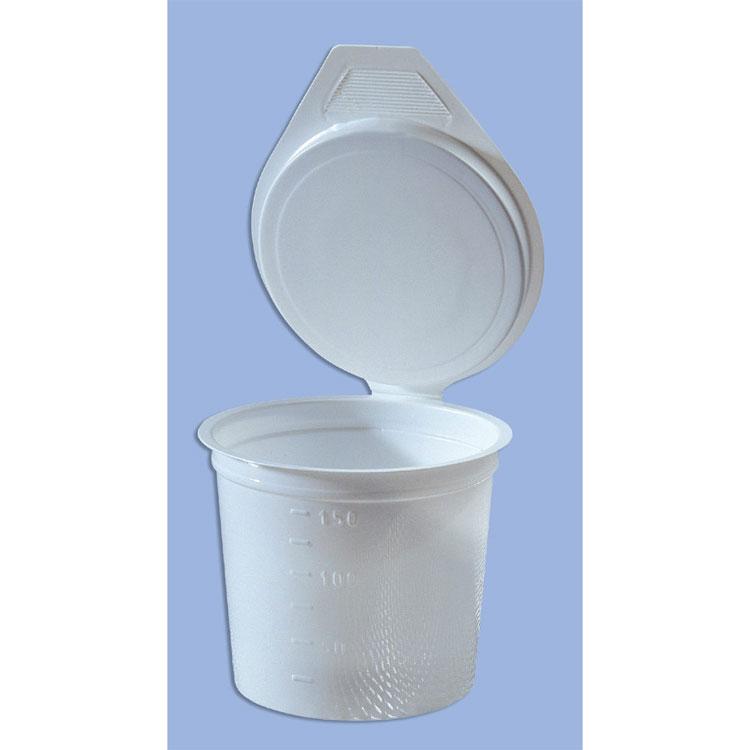 Sputumbekers met wipdeksel - wegwerp - 40 st