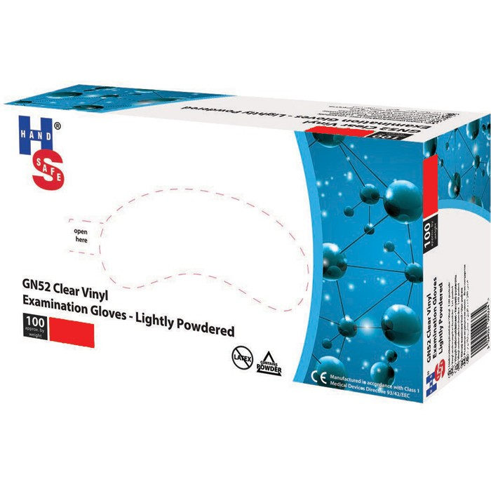 Handschoenen vinyl niet steriel - GN52 - small - 10 x 100 stuks