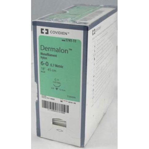 Dermalon 6/0 45cm 16T3/8 1747-11 36st