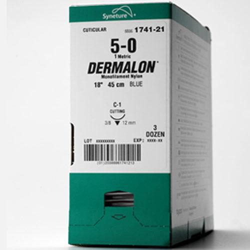 Dermalon 5/0 45cm 19T3/8 1756-21 36st