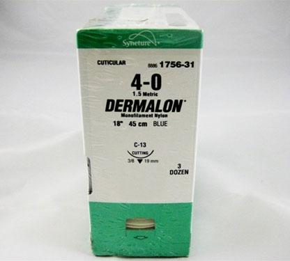 Dermalon 4/0 45cm 19T3/8 1756-31 36st