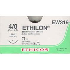 Ethilon 4/0 75cm 19TRI3/8 EW319 36st
