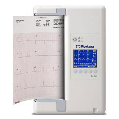 Mortara Eli-230 EKG-toestel met interpretatie en WAM draadloze patientenkabel
