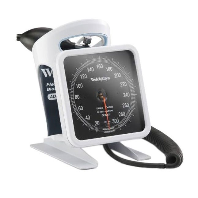 WA bloeddrukmeter 767 tafelmodel met flexiport velcromanchet - Welch Allyn