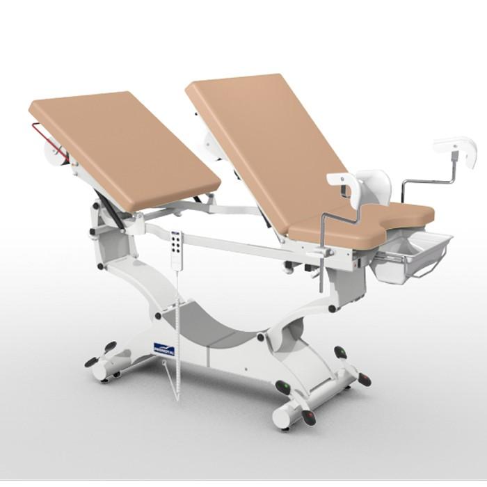Duolys onderzoekstafel met kunststof beensteunen en block 'n roll wieltjes