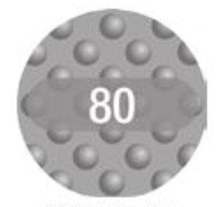 Vijlpads wegwerp - 80 grit - 30 stuks (voor ref.150262)
