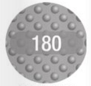 Vijlpads wegwerp - 180 grit - 30 stuks (voor ref.150262)