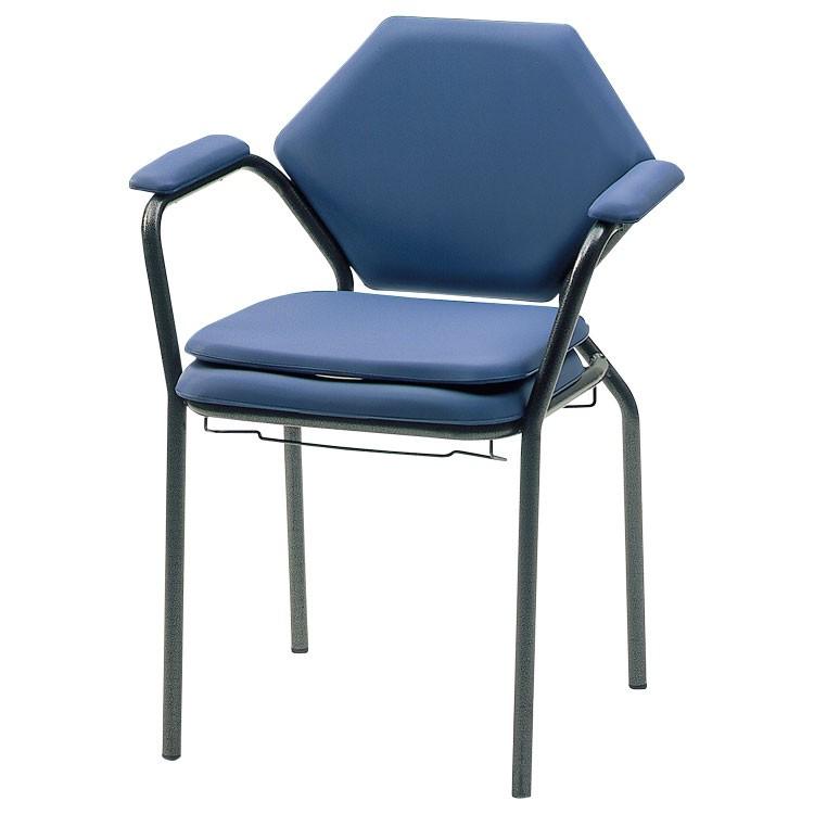 Toiletstoel met skai bekleding + emmer - TOT 120kg - blauw - 1 stuk