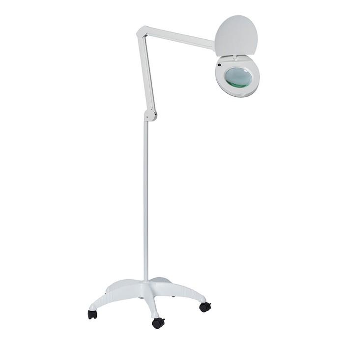 Loupelamp 80 LEDS - 5 dioptrieën - op verzwaard rolstatief (8,8 kg)