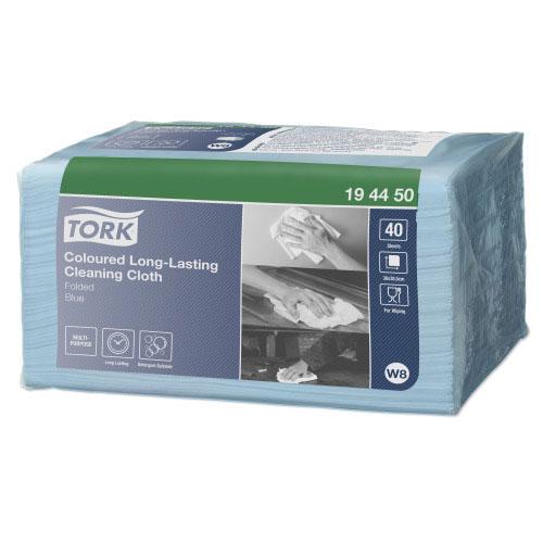 Tork Coloured Long-Lasting Cloth (30x38 cm) Blauw - 40 stuks