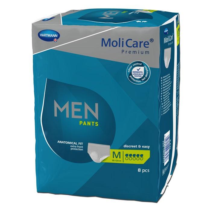 MoliCare® Premium MEN Pants - 5 druppels - Groen - Medium - 4 x 8 stuks