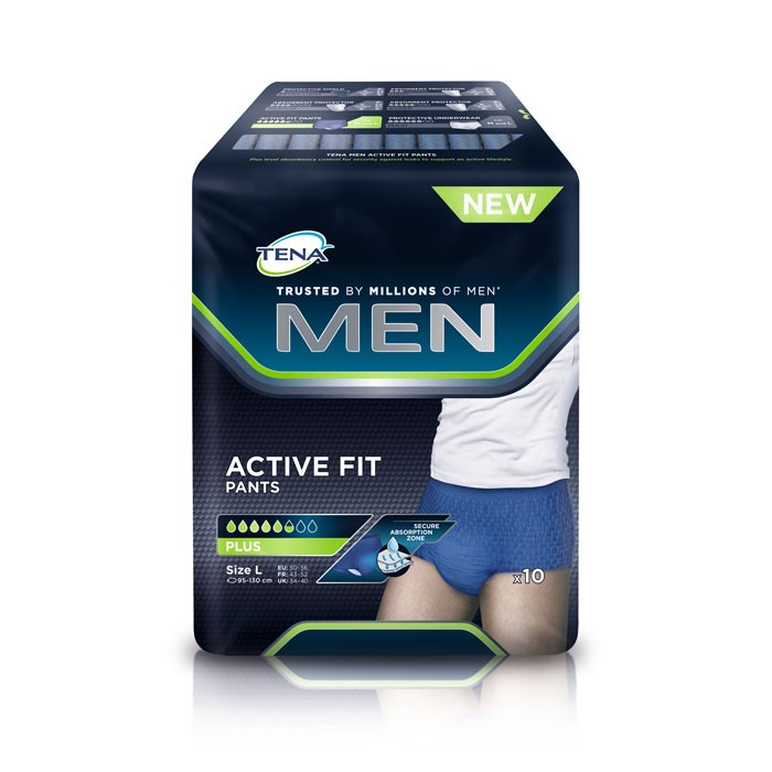 TENA Men Active Fit Pants Large - 4 x 10 stuks