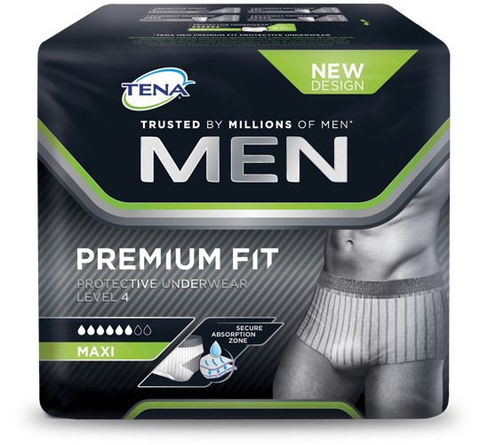 TENA Men Premium Fit Protective Underwear Level 4 Medium - 4 x 12 stuks