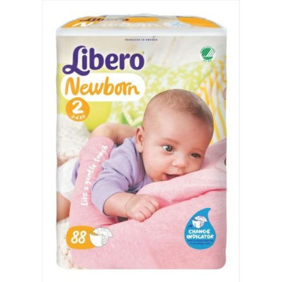 Babyluiers Libero Newborn 2 (3-6kg) - 3x88st