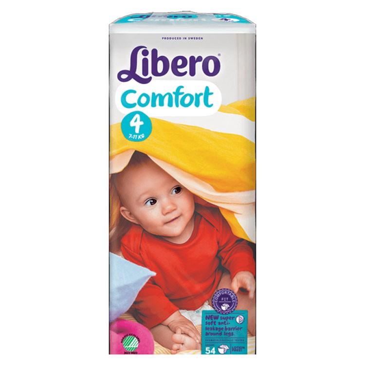 Babyluiers Libero Comfort 4 (7-11 kg) - 4 x 54 stuks