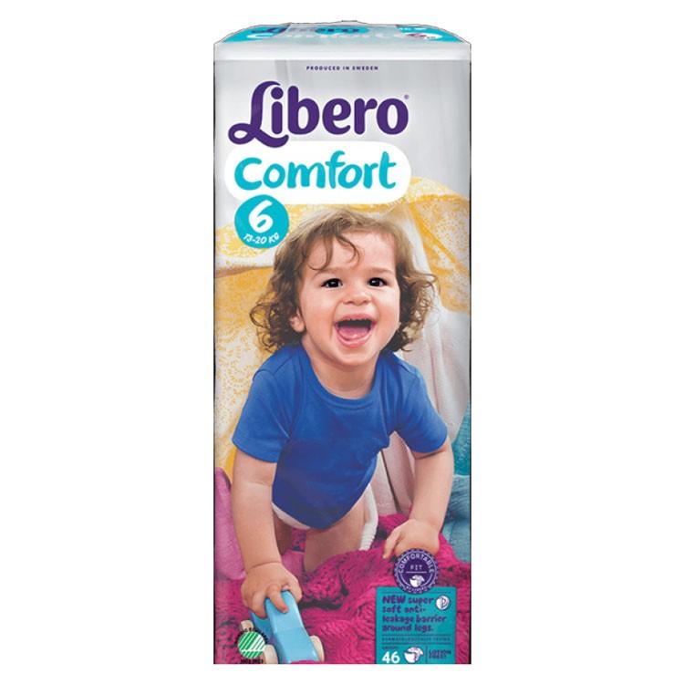 Babyluiers Libero Comfort 6 (13-20 kg) - 4 x 46 stuks