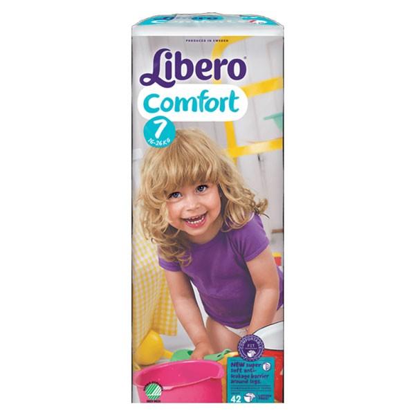Babyluiers Libero Comfort 7 (16-26 kg) - KARTON van 4 x 42 stuks