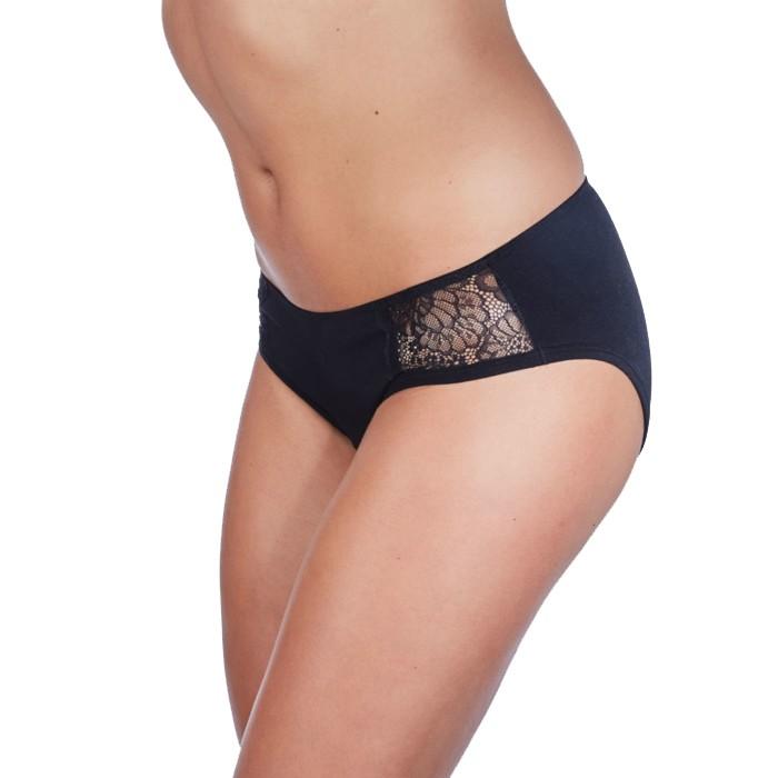 Slip - Vrouw - Lage Taille - Zwart - Medium - 30 ml