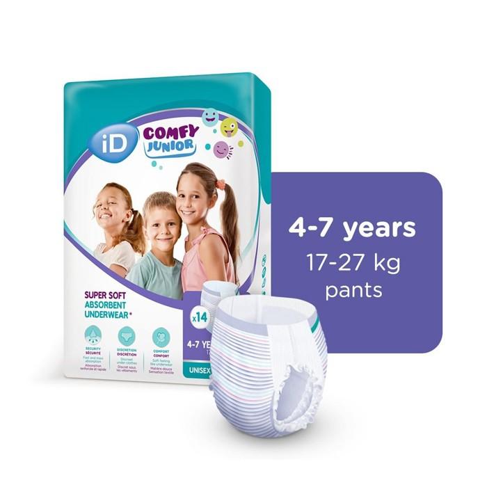 iD Comfy Junior Pants (4-7 jaar) - 4 x 14 stuks