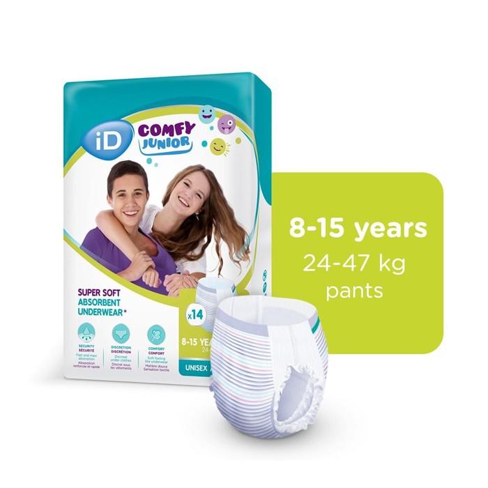iD Comfy Junior Pants (8-15 jaar) - 4 x 14 stuks