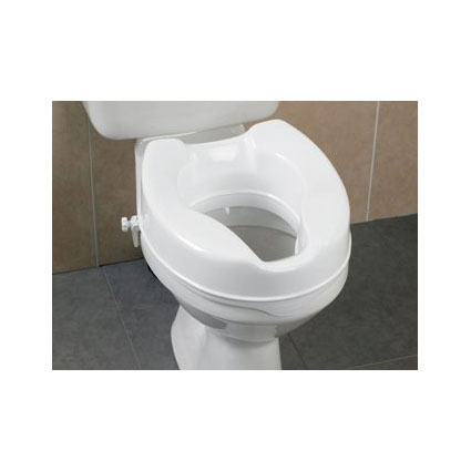 Toiletverhoger 11 cm + 2 klemmen plastiek
