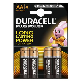 Duracell PLUS AA - MN1500 - op blister - 4 stuks