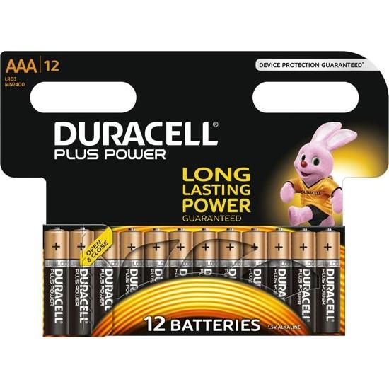 Duracell PLUS - AAA - MN2400 - PROMO - op blister - 12 stuks