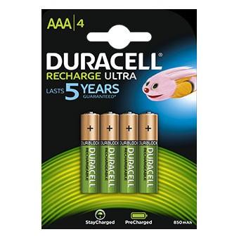 Duracell OPLAADBAAR - AAA - 850mAh - op blister - 4 stuks
