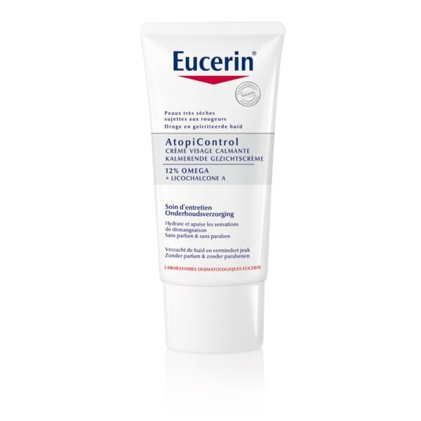 Eucerin AtopiControl kalmerende gezichtscrème 12% omega 50ml