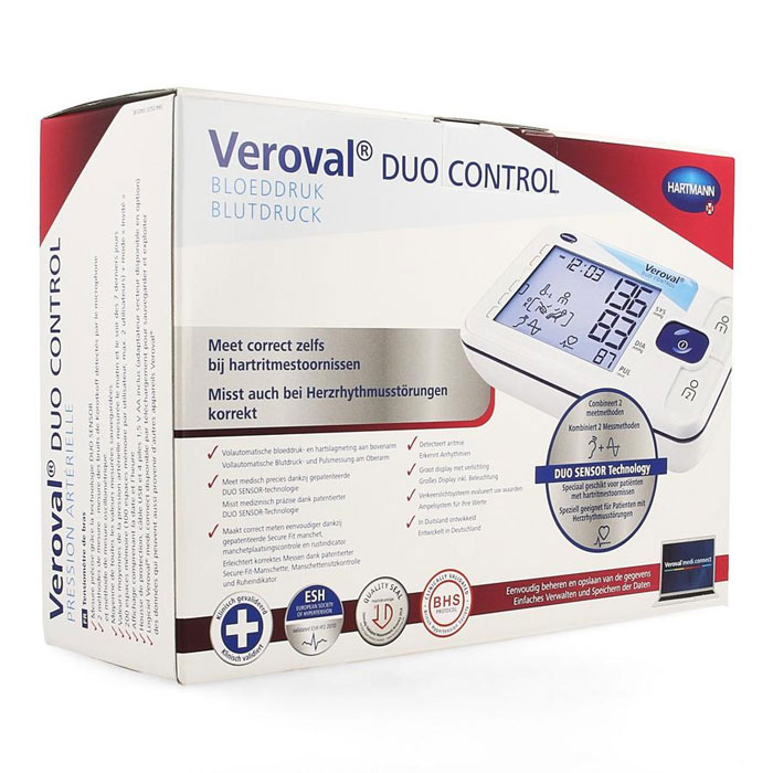 Veroval duo Control - digitale bovenarm bloeddrukmeter - Medium