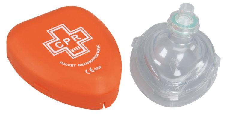 Reanimatiemasker met terugslagklep (rescue mask)