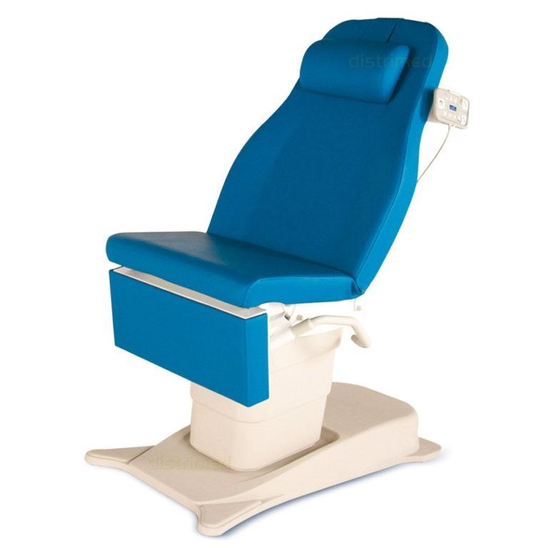 EMotio® onderzoekstafel - hoog/laag - met voetpedaal en 4 geprogrameerde posities - wieltjes