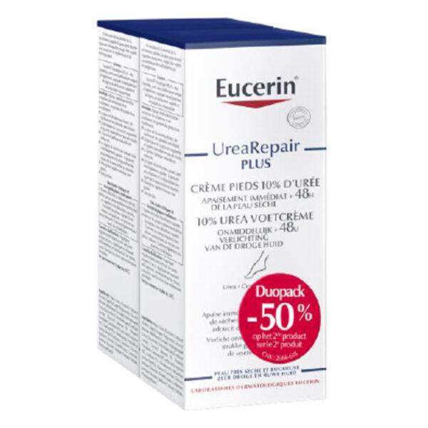 Eucerin herstellende voetcrème 10% urea - 2e aan halve prijs