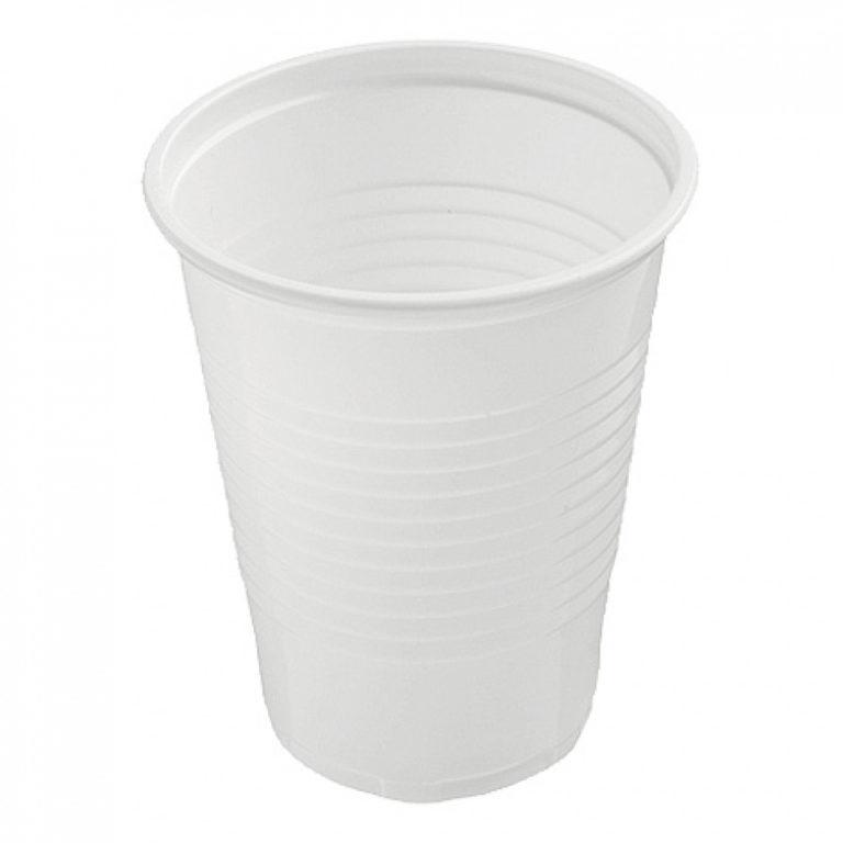 Drinkbekers Plastic Wit 200ml